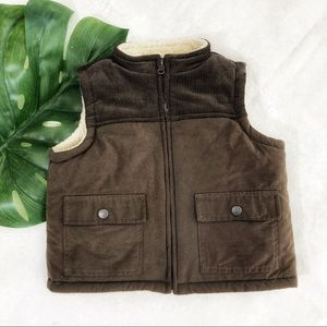 Janie and Jack Sherpa Lined Vest Size 12-18 Months